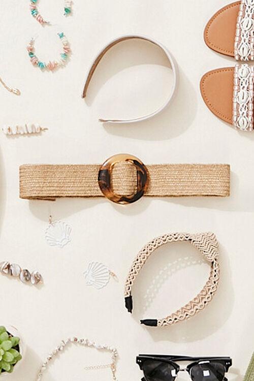 Marbled Round Buckle Waist Belt, image 1