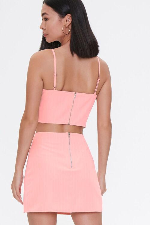 BLUSH/WHITE Sweetheart Cami & Mini Skirt Set, image 3