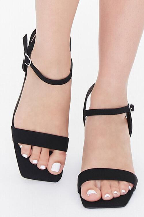 Square-Toe Ankle-Strap Block Heels, image 4