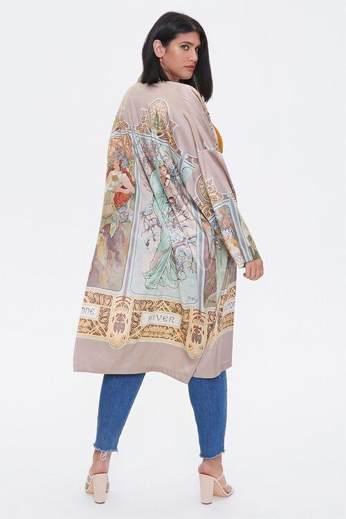 Plus Size Alphonse Mucha Kimono, image 3
