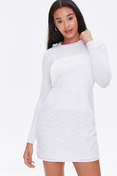 Eyelet Pinafore Dress, image 1