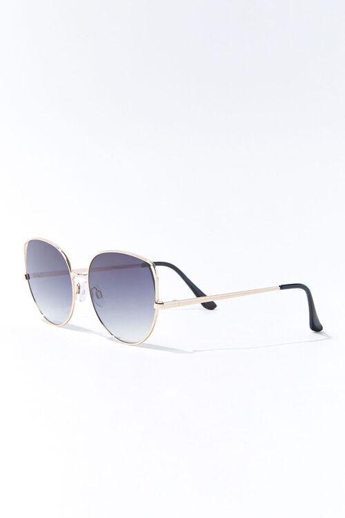 Round Tinted Metal Sunglasses, image 3