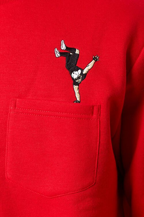 RED/MULTI Embroidered Dancer Graphic Pullover, image 5