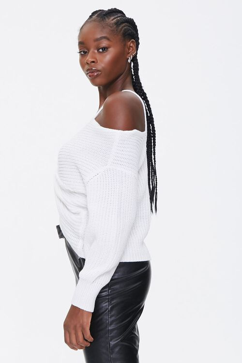 Ribbed Twist-Front Sweater, image 2