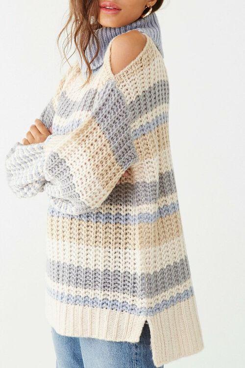 Striped Knit Turtleneck Sweater, image 2