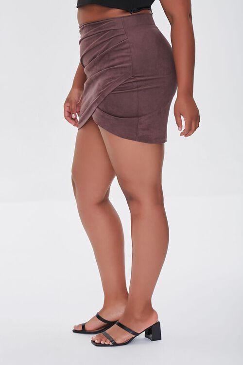 CHOCOLATE Plus Size Tulip Mini Skirt, image 3
