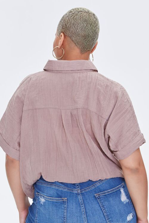 Plus Size Crossover Shirt, image 3