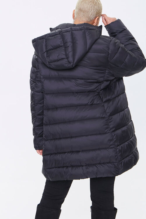 Plus Size Hooded Longline Puffer Jacket, image 3