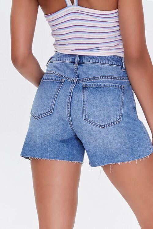 MEDIUM DENIM Raw-Cut Denim Shorts, image 4