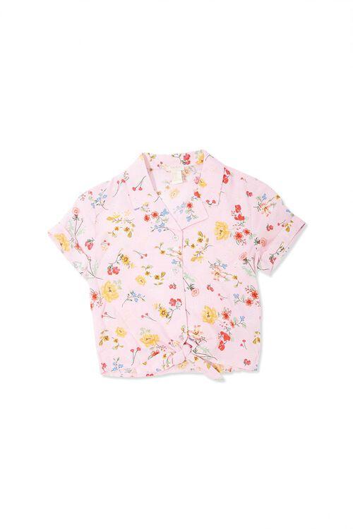 Girls Floral Print Shirt (Kids), image 1