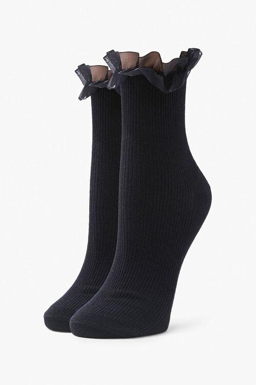 Ruffle-Trim Crew Socks, image 1