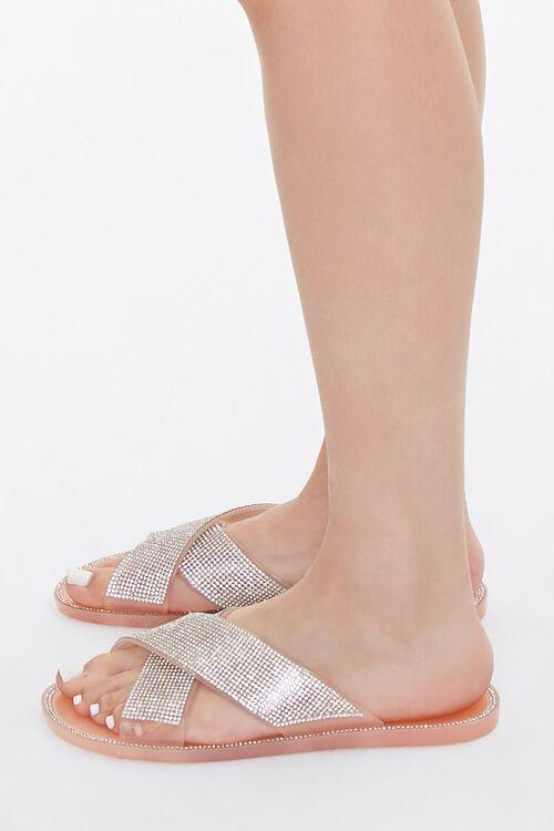 Rhinestone Crisscross Sandals, image 2