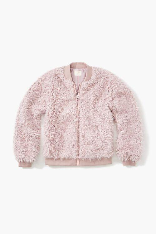 Girls Faux Fur Bomber Jacket (Kids), image 1