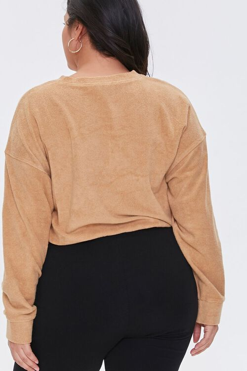 Plus Size French Terry Drawstring Pullover, image 3
