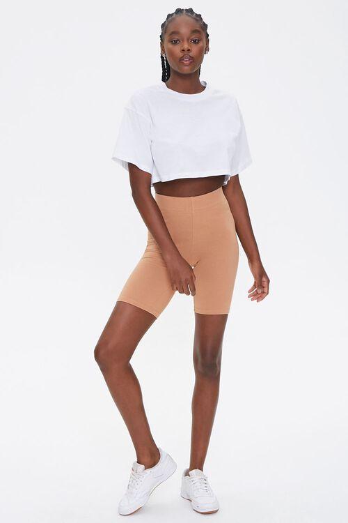 CAMEL Basic Cotton-Blend Biker Shorts, image 5