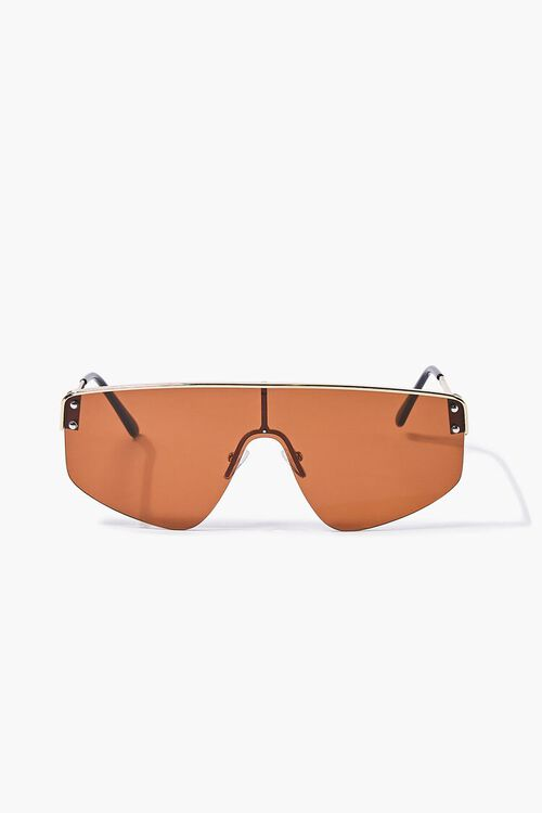 Bar-Accent Shield Sunglasses, image 2