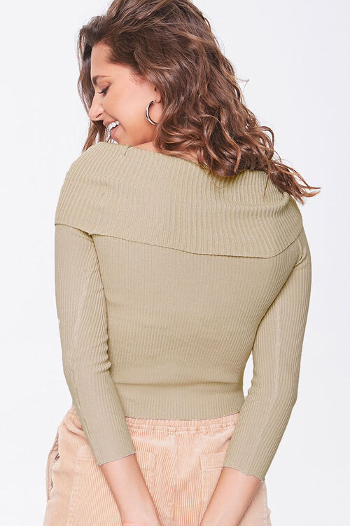 Ribbed Off-the-Shoulder Sweater, image 3
