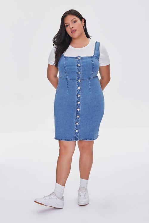 Plus Size Denim Pinafore Dress, image 4
