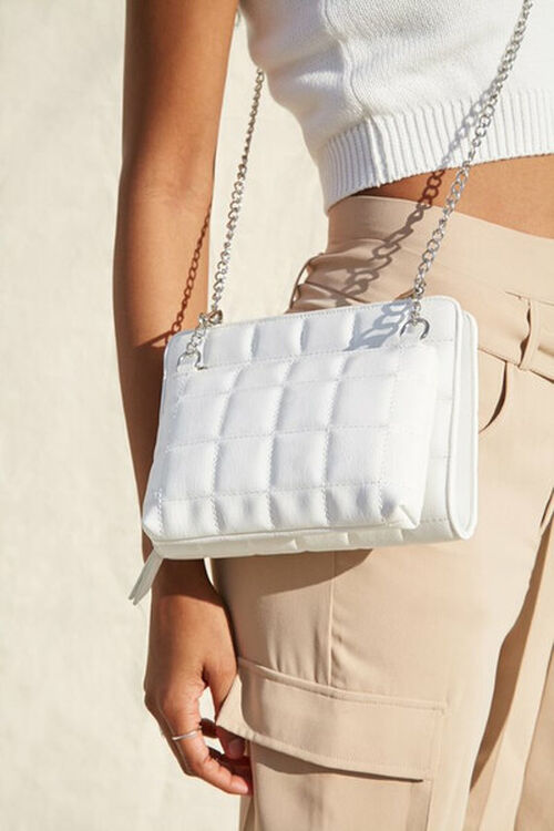 Quilted Dual Crossbody Bag, image 1