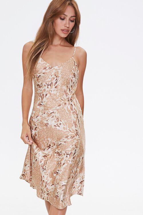 Leopard Print Slip Dress, image 1