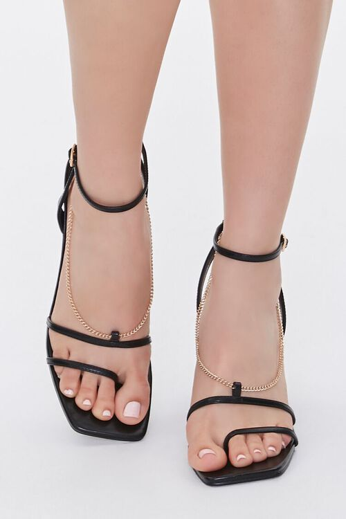 Chain Accent-Strap Heels, image 4