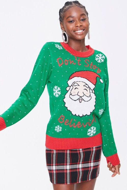 GREEN/MULTI Santa Graphic Sweater, image 1