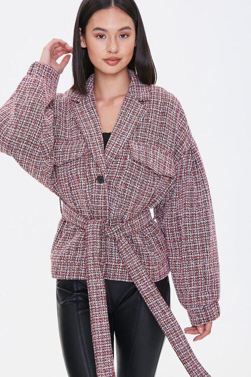 Tie-Waist Tweed Jacket, image 1