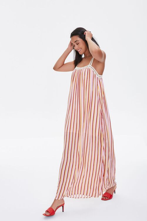 Striped Crochet-Trim Dress, image 1