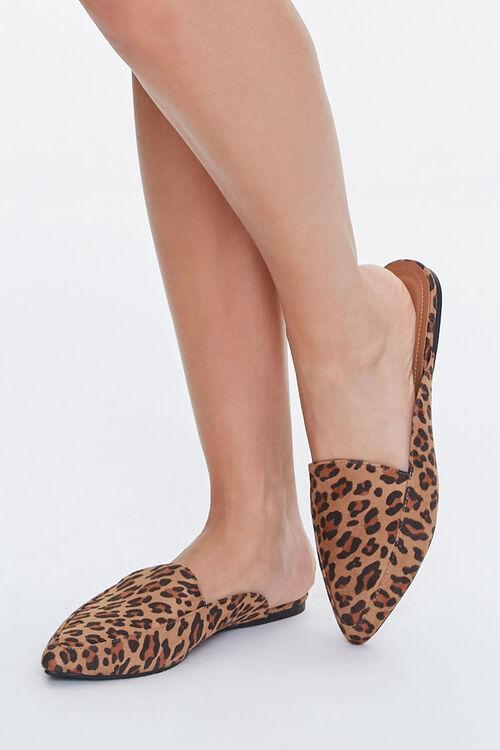 Leopard Print Loafer Mules, image 1