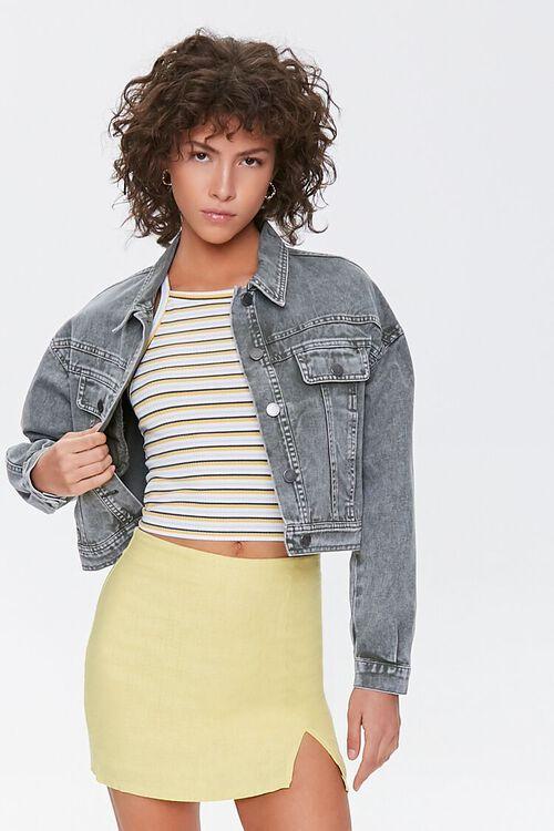 Linen-Blend Mini Skirt, image 1