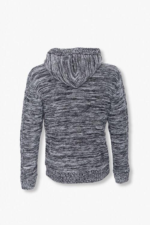 Marled Hooded Cardigan Sweater, image 3