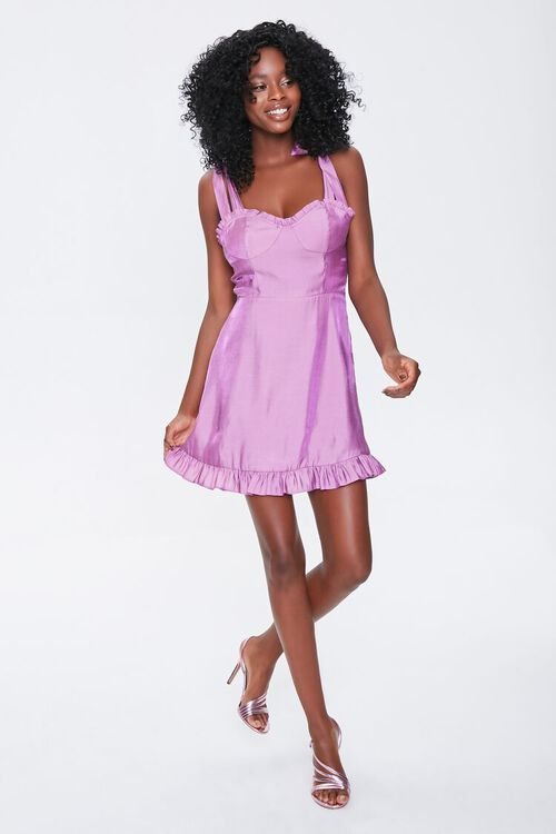 Sheeny Self-Tie Mini Dress, image 4