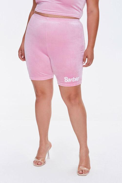Plus Size Barbie™ Biker Shorts, image 2