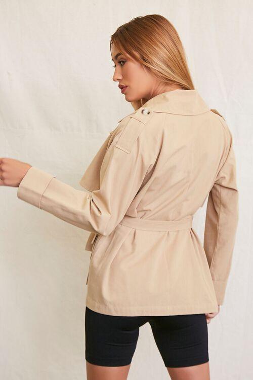 KHAKI Double-Breasted Trench Coat, image 3