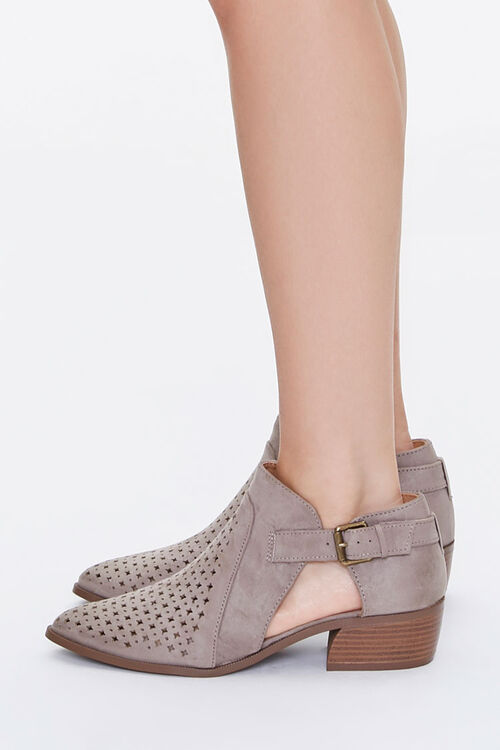 Perforated Buckled Booties, image 2