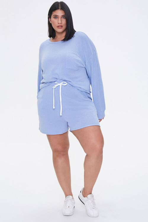 Plus Size Pullover & Shorts Set, image 4
