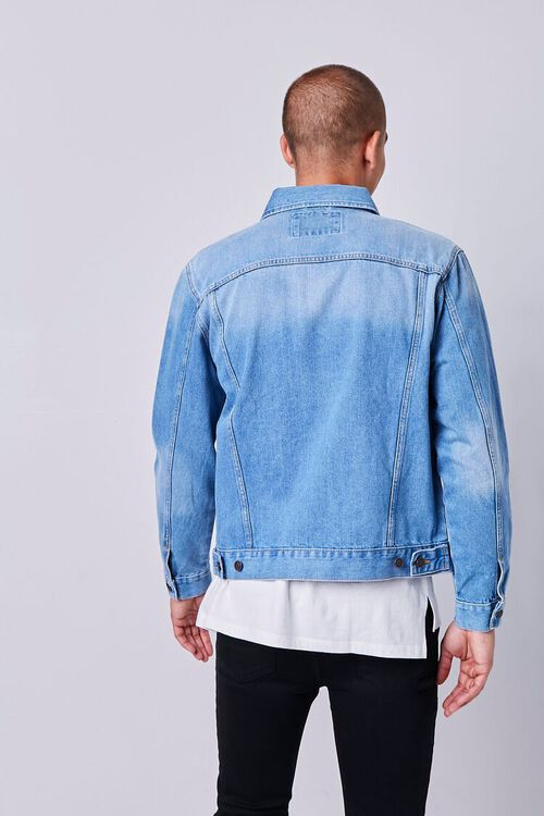 Recycled Buttoned Denim Jacket, image 3