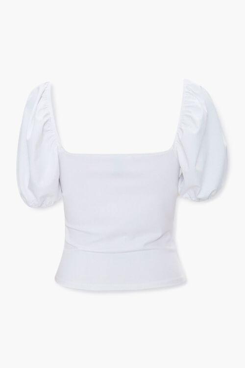 Sweetheart Puff-Sleeve Top, image 2