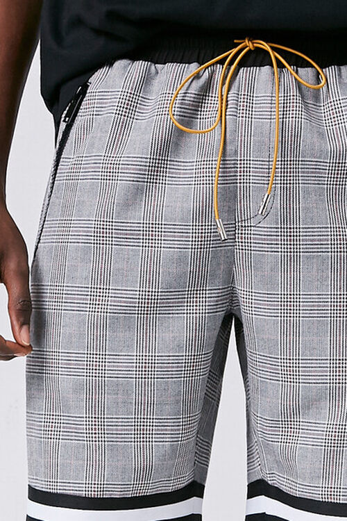 Glen Plaid Drawstring Shorts, image 5