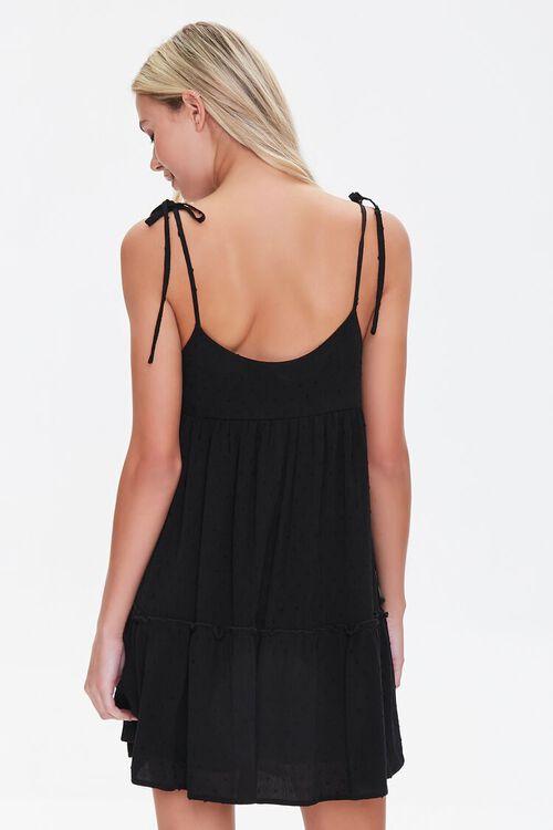 BLACK Flounce-Hem Mini Shift Dress, image 3