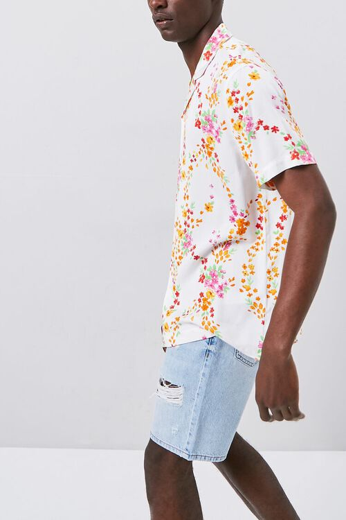 Floral Print Fitted Shirt, image 2