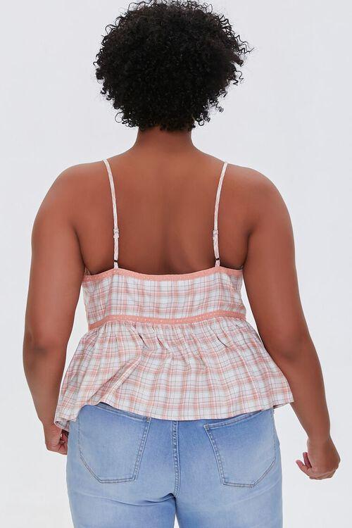 Plus Size Plaid Lace-Trim Cami, image 3