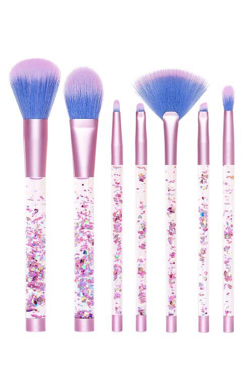 Aquarium Liquid Glitter Makeup Brush Set & Pouch, image 2