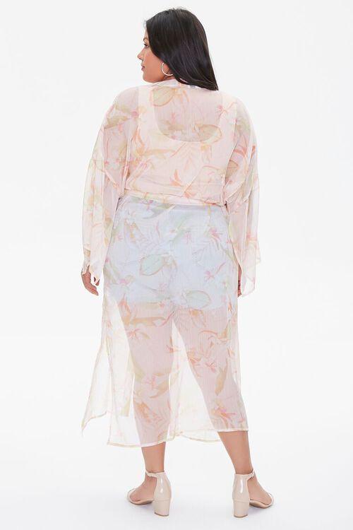 Plus Size Tropical Floral Kimono, image 3