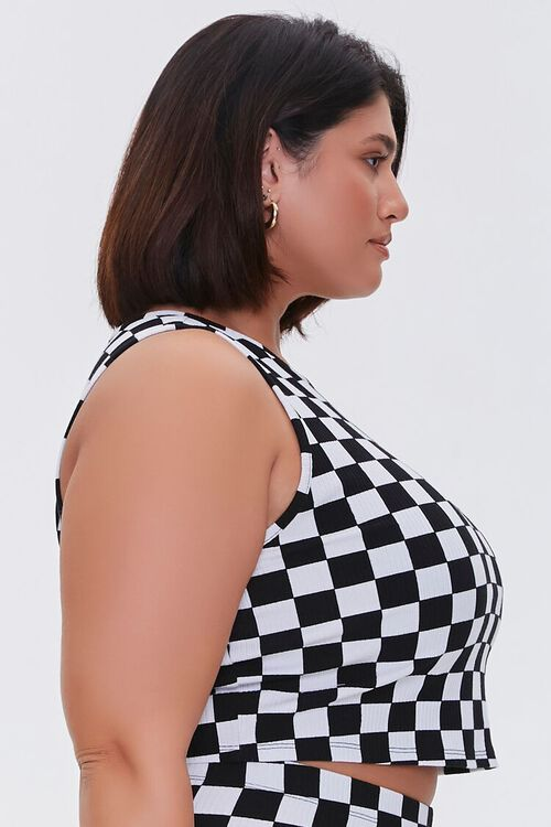Plus Size Checkered Tank Top, image 2