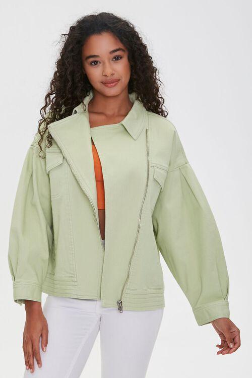 Zip-Up Drop-Sleeve Jacket, image 1