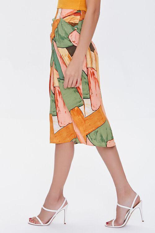 Abstract Geometric Print Skirt, image 3