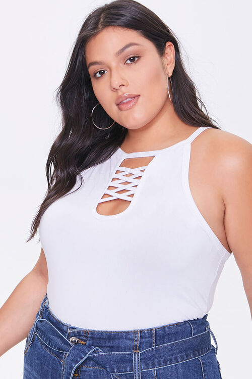 Plus Size Caged Cami, image 1