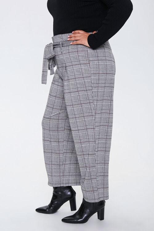 Plus Size Plaid Ankle Pants, image 2