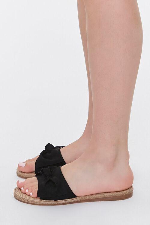 Faux Suede Bow Espadrille Sandals, image 2